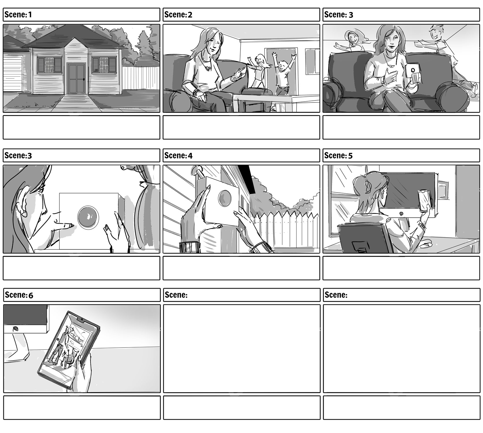 Amazon Blink - Busy Mom Storyboards
