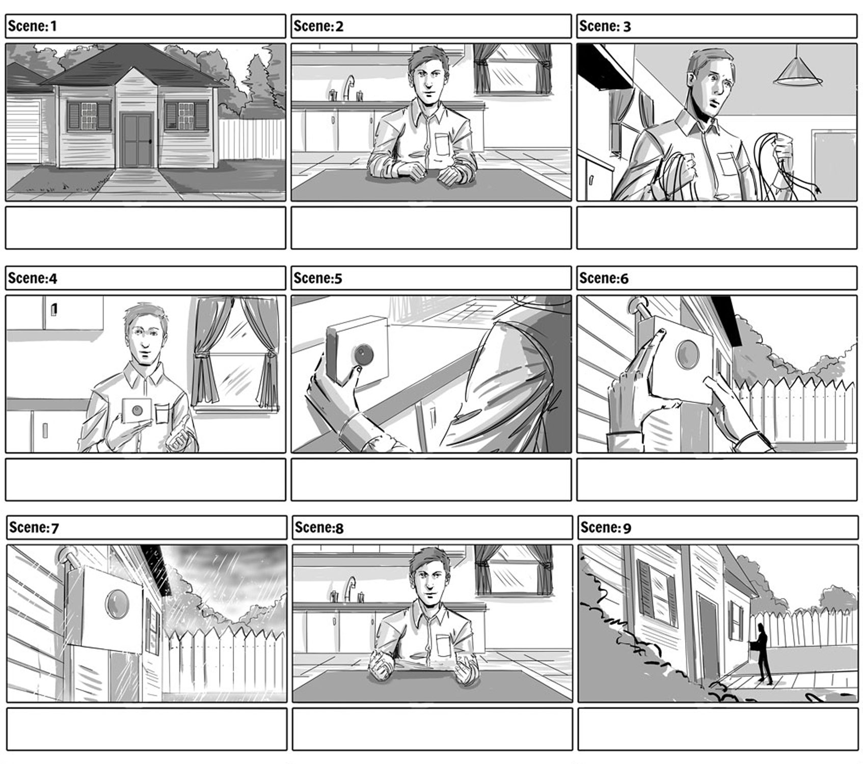 Amazon Blink Tech Dad Storyboards