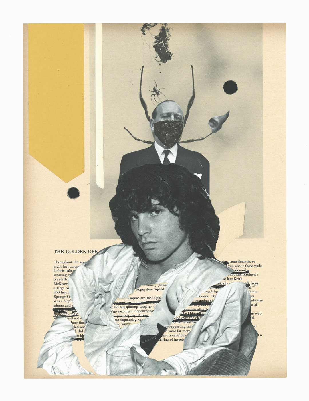 'Lizard King'  Collage on Paper, 297mm x 420mm by Kubi Vasak