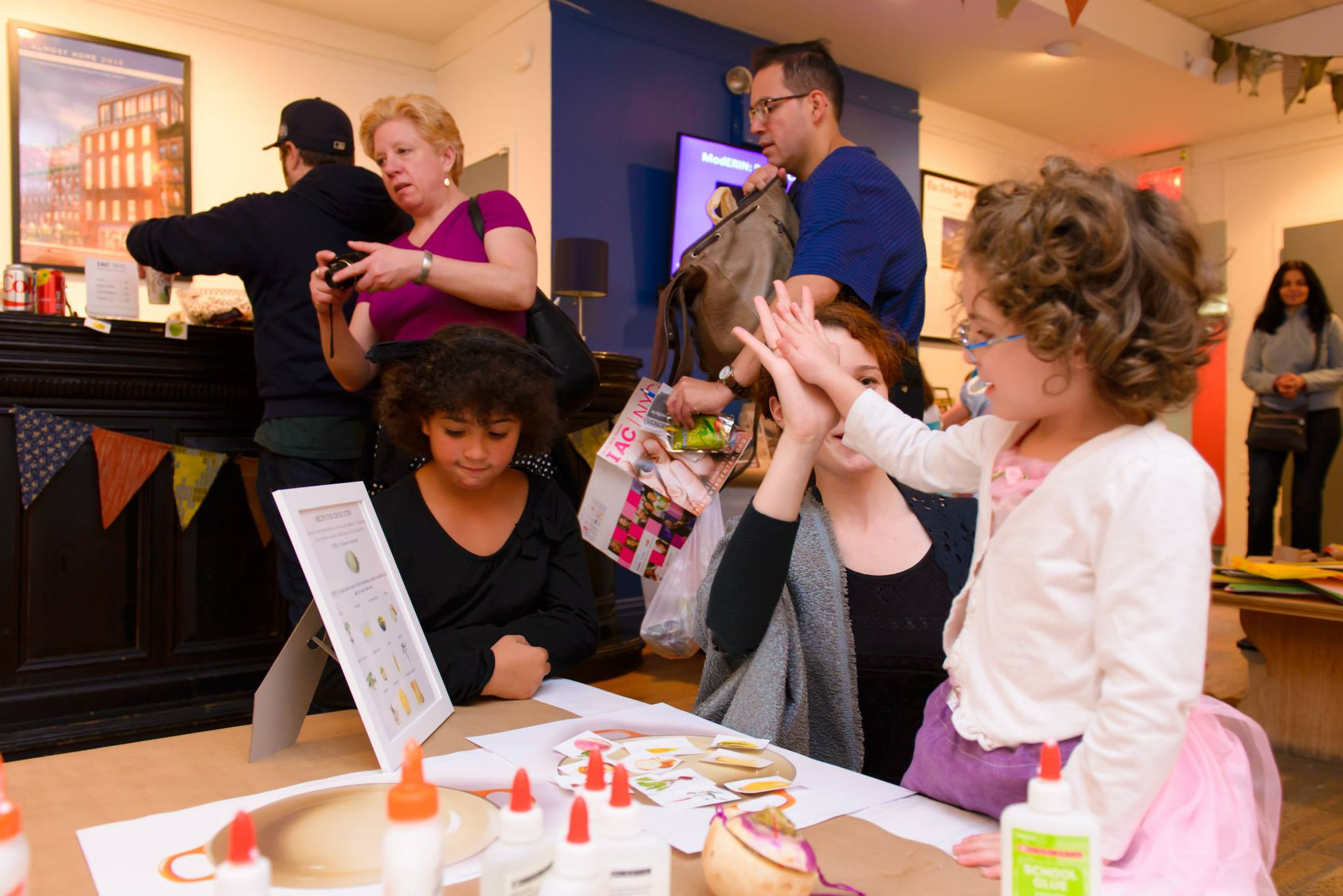 Leading arts and crafts activities at our Halloween event