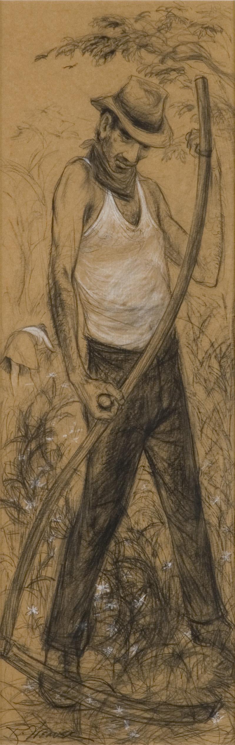 """""""Man with Scythe"""" c. 1950*"""