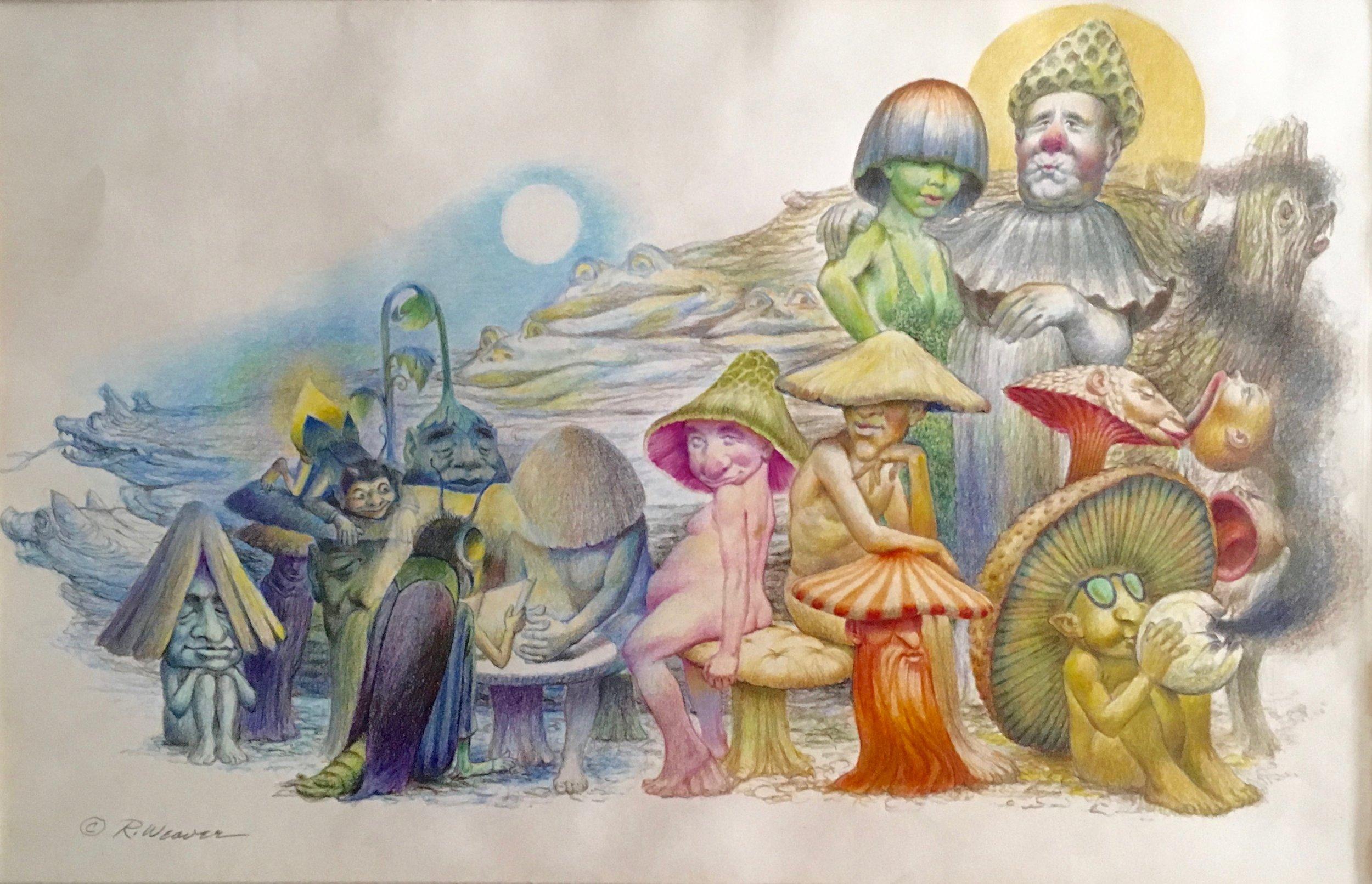 """""""Mushroom Peoples"""" c. 1978"""