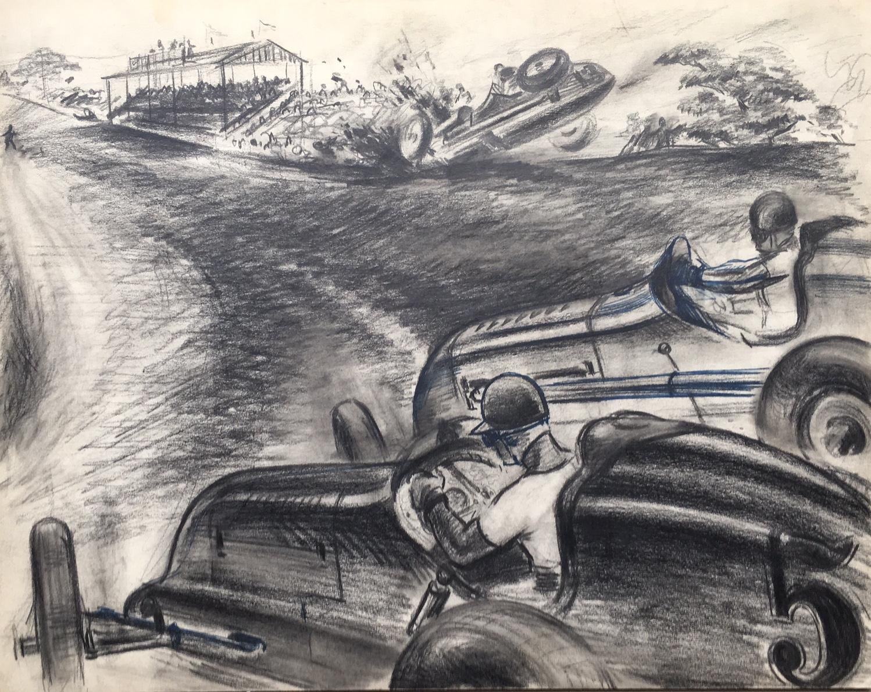 """Championship Racing on Dirt"" c. 1948"