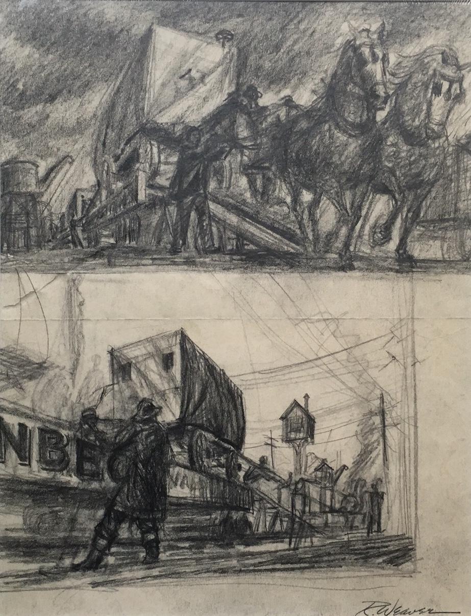 """Unloading Trains"" c. 1940"
