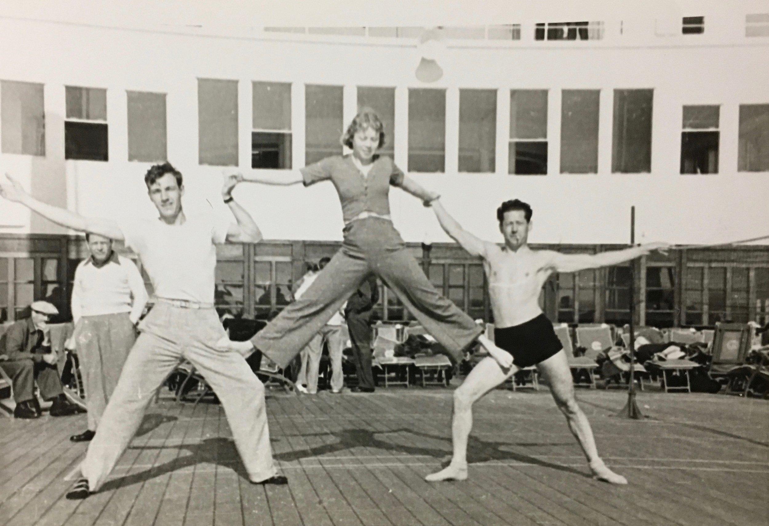 REW aboard the ocean liner Champlain, 1939