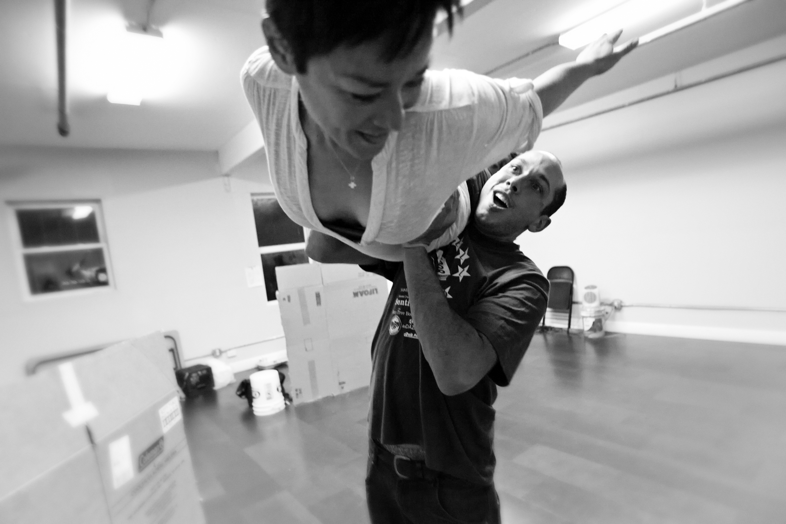 In rehearsal, Pictured with: Ana Ishida, Photo: Pak Han