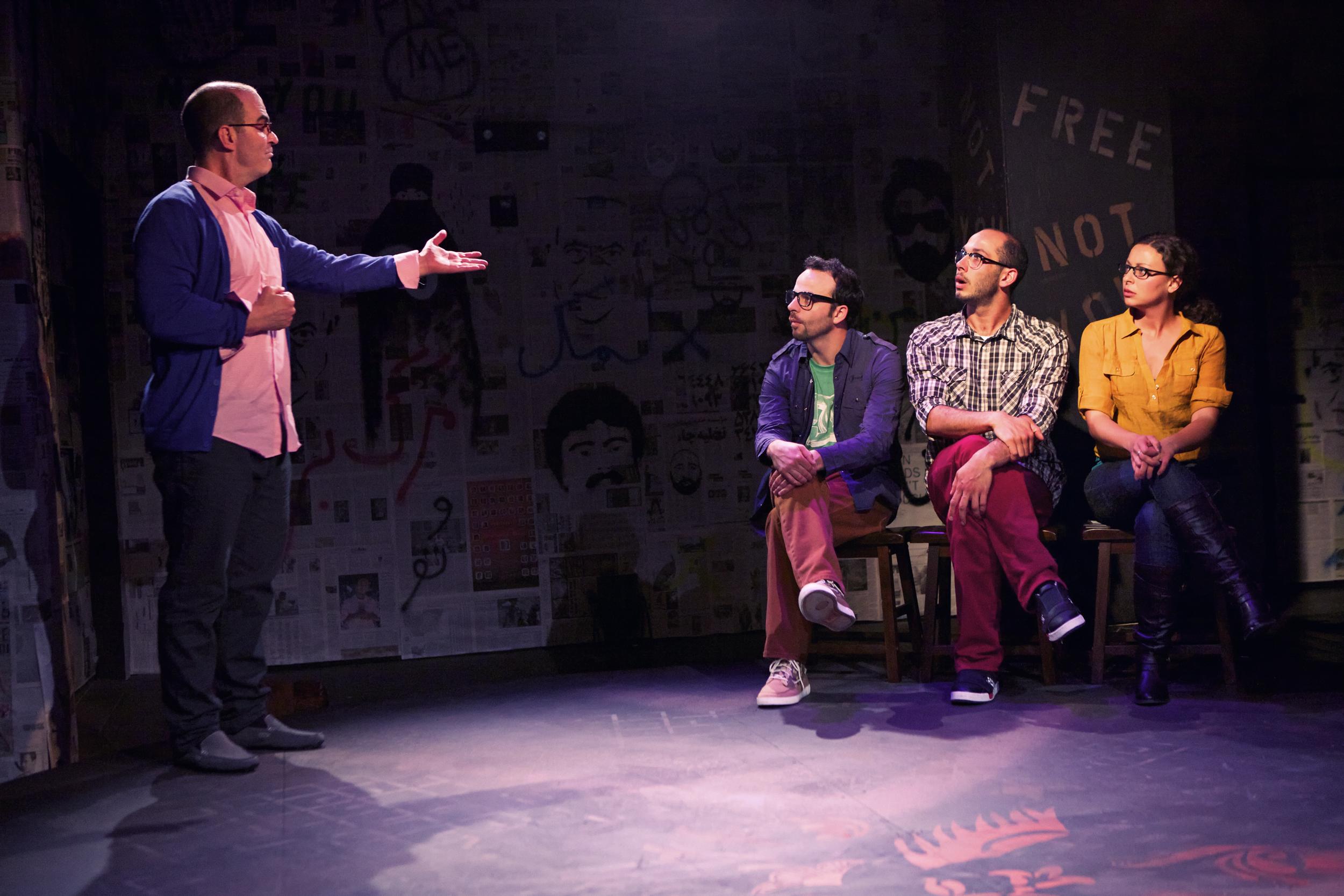 Pictured with: Lawrence Radecker, George Psarras, and Olivia Rosaldo-Pratt, Photo: Pak Han
