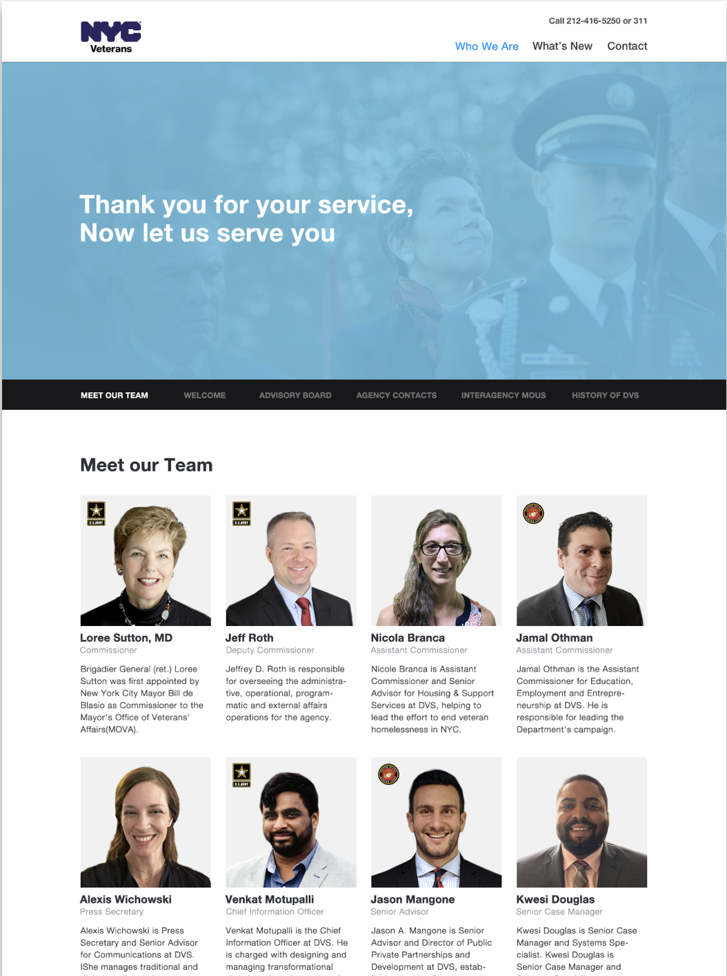 Team Page Redesign