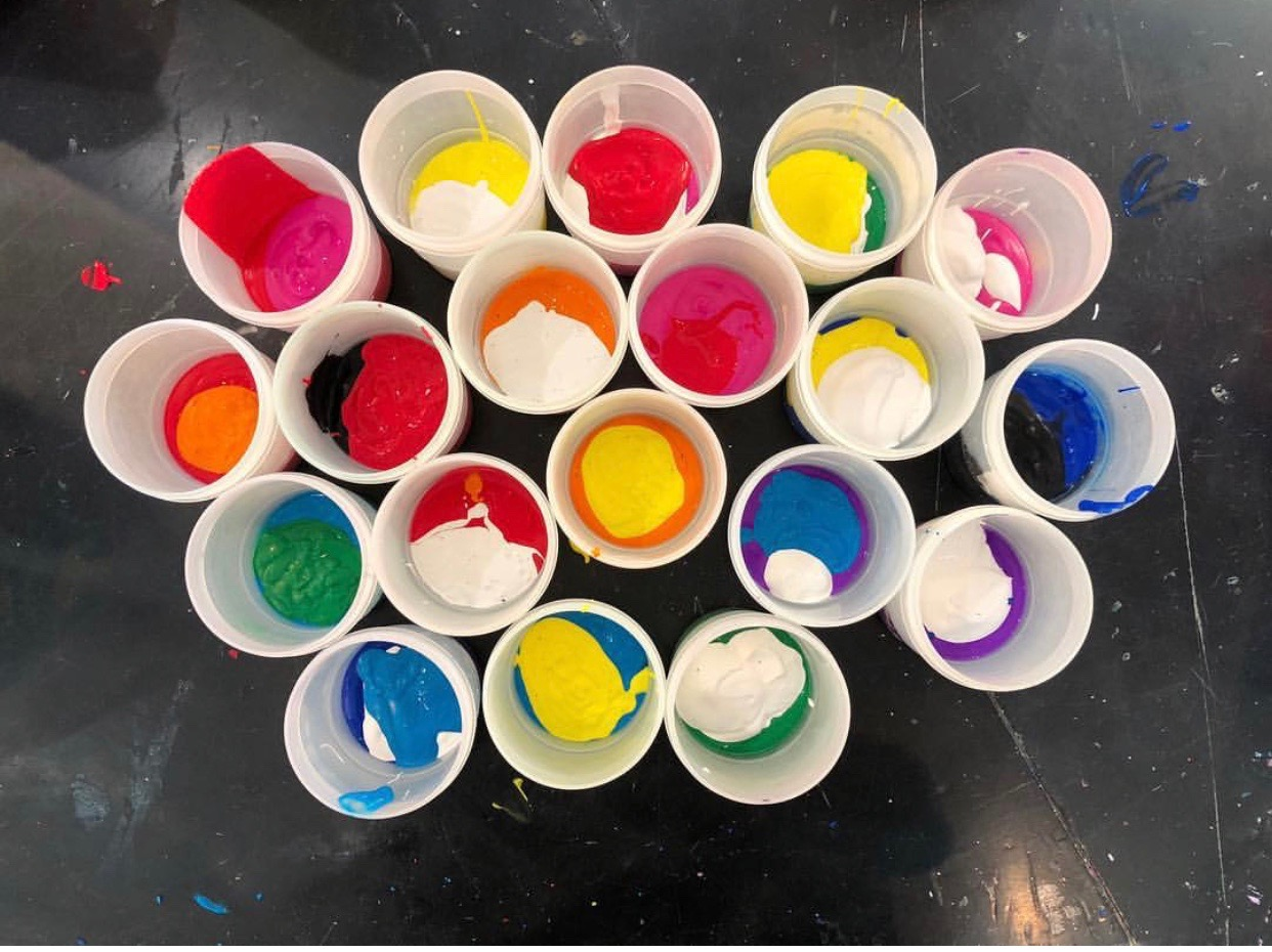 Mixing colors - before!