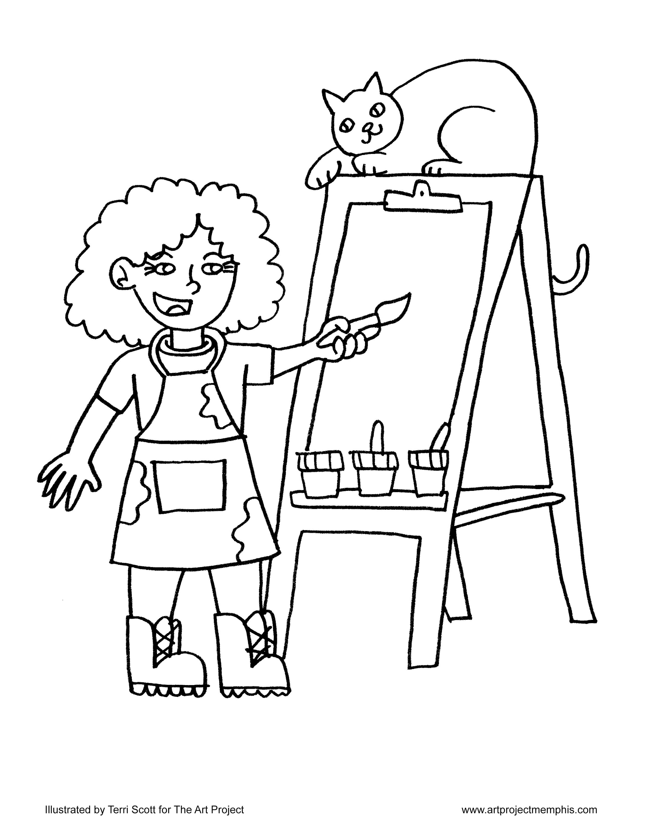 Coloring Sheets — The Art Project