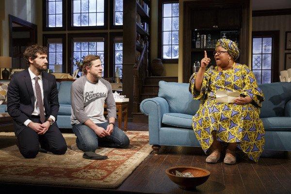 Me, Joe Tippet and Myra Lucretia Taylor in Familiar by Danai Gurira