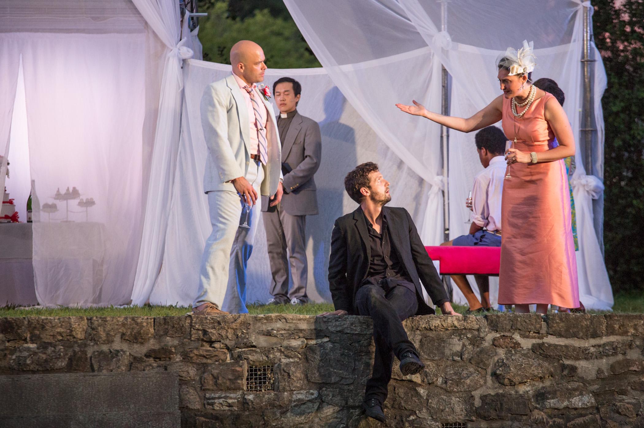 Liz Wisan (Gertrude), Slate Holmgren (Claudius) and Me