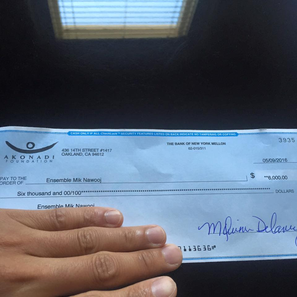 Thank you   Akonadi Foundation      for the generous grant! This grant will be used to execute the epic event we're producing with   Hip Hop for Change  in August! Details coming soon- but it'll be free and open to public!