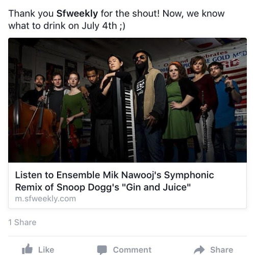 Thank you  SF Weekly  for the shout!