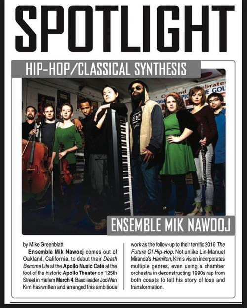 Thank you The Aquarian Weekly for the shout! Get a physical copy if you're in the tri-state area and come see us live at  Apollo Music Cafe!
