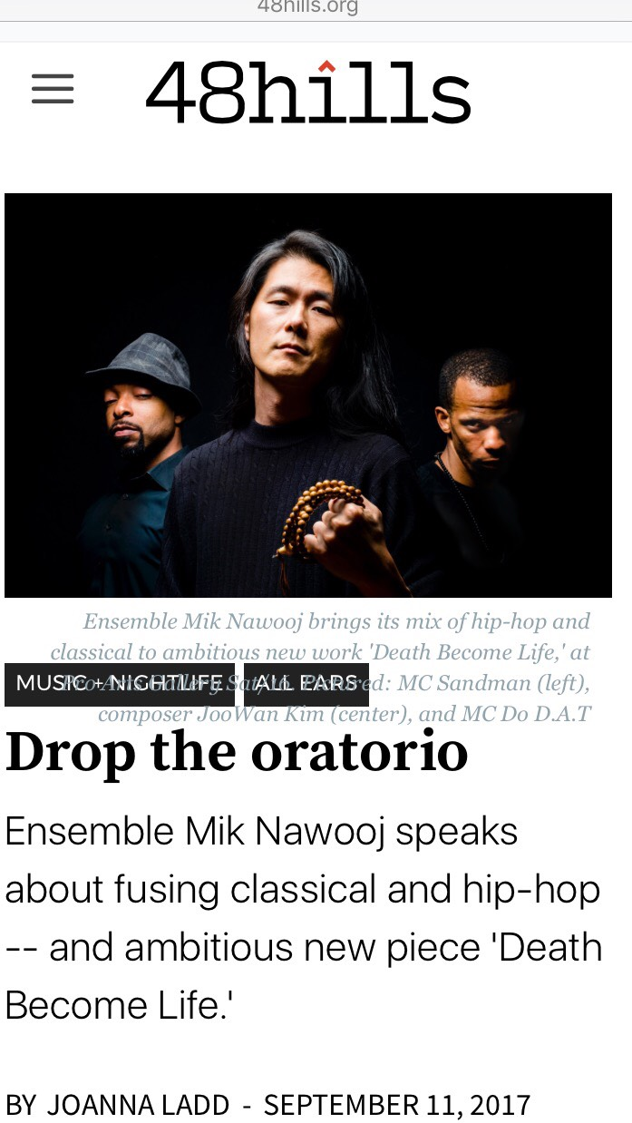 """""""what we call classical music will cease to exist and be replaced by """"hybrids"""" of different systems."""" Thanks  48 Hills for the wonderful interview! Sat. at  Pro Arts!"""