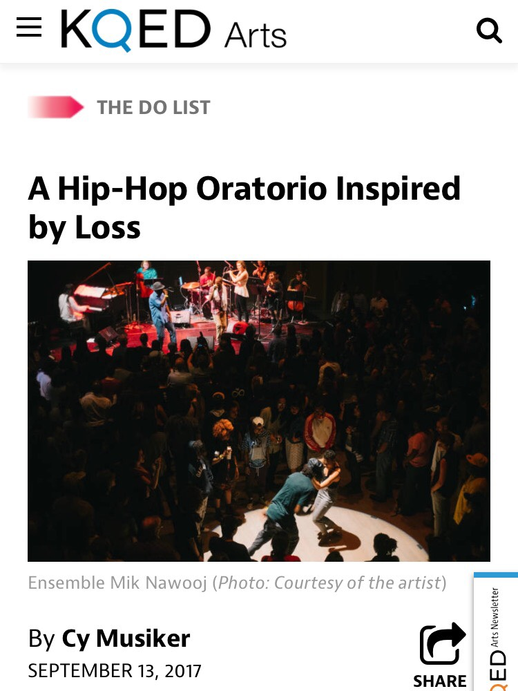 Thank you KQED for the wonderful  feature! Listen to Do List segment  here (5:45 mark)