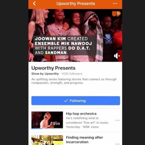 Thank you Upworthy presents for featuring us! Watch it on FB or our  home page