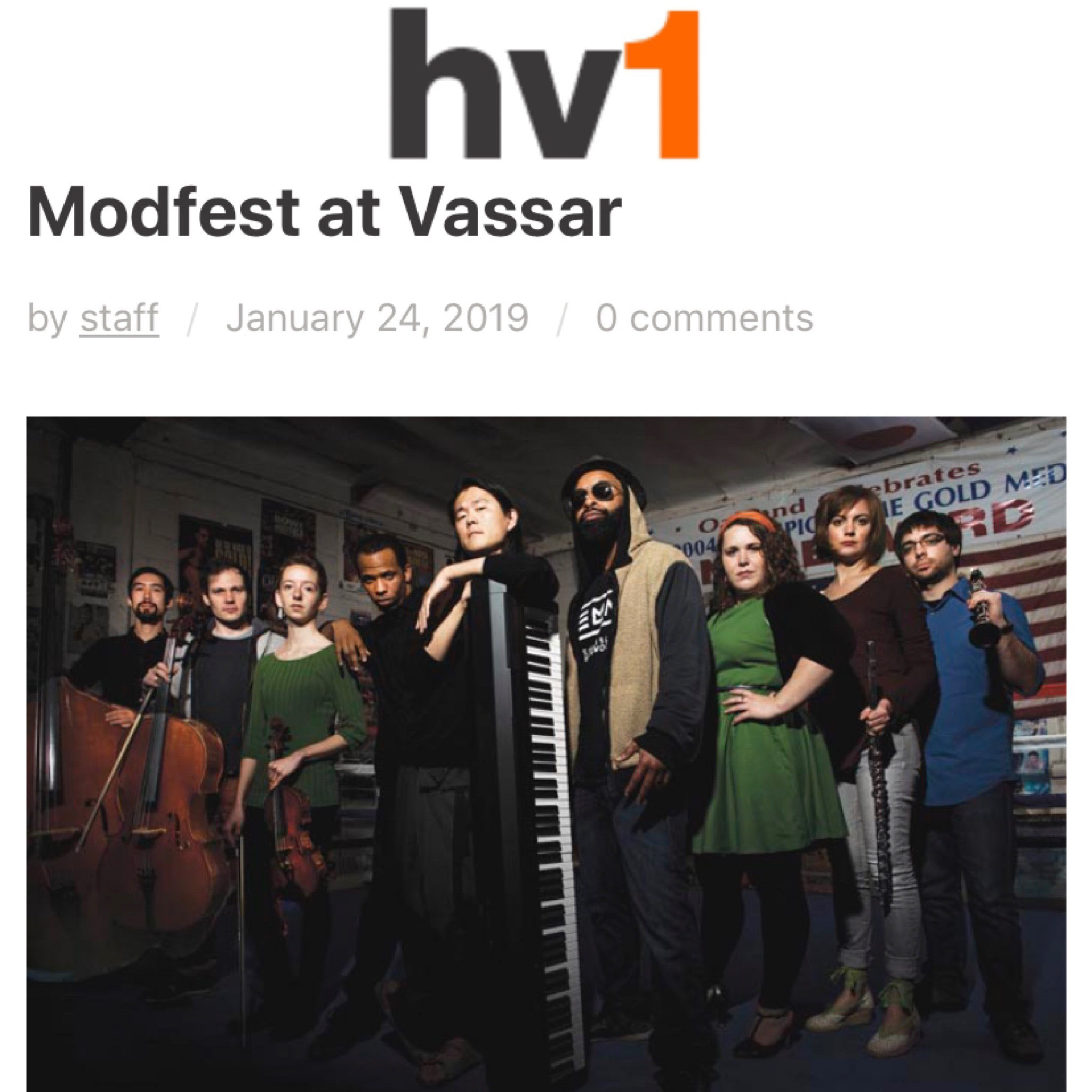 Vassar's modern serious music festival Modfest serves up nearly two weeks of thematically connected music, lectures, films and more in venues around the Vassar campus and – for the first time this year – off-campus as well.   Full article here