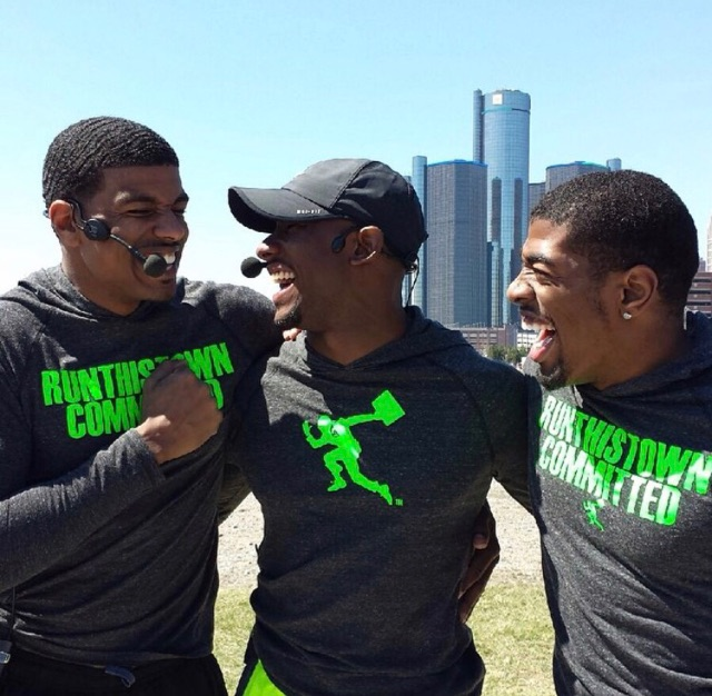 Shawn Blanchard (left), Armond Harris (center) and Terrance Thompson, co-founders of Run This Town Detroit