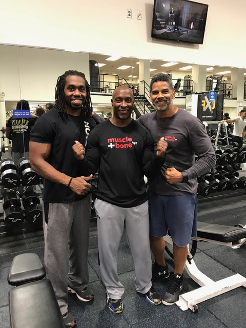Tony Laurent (right), owner of Muscle and Bone w/ training partners, Kevin and Mike