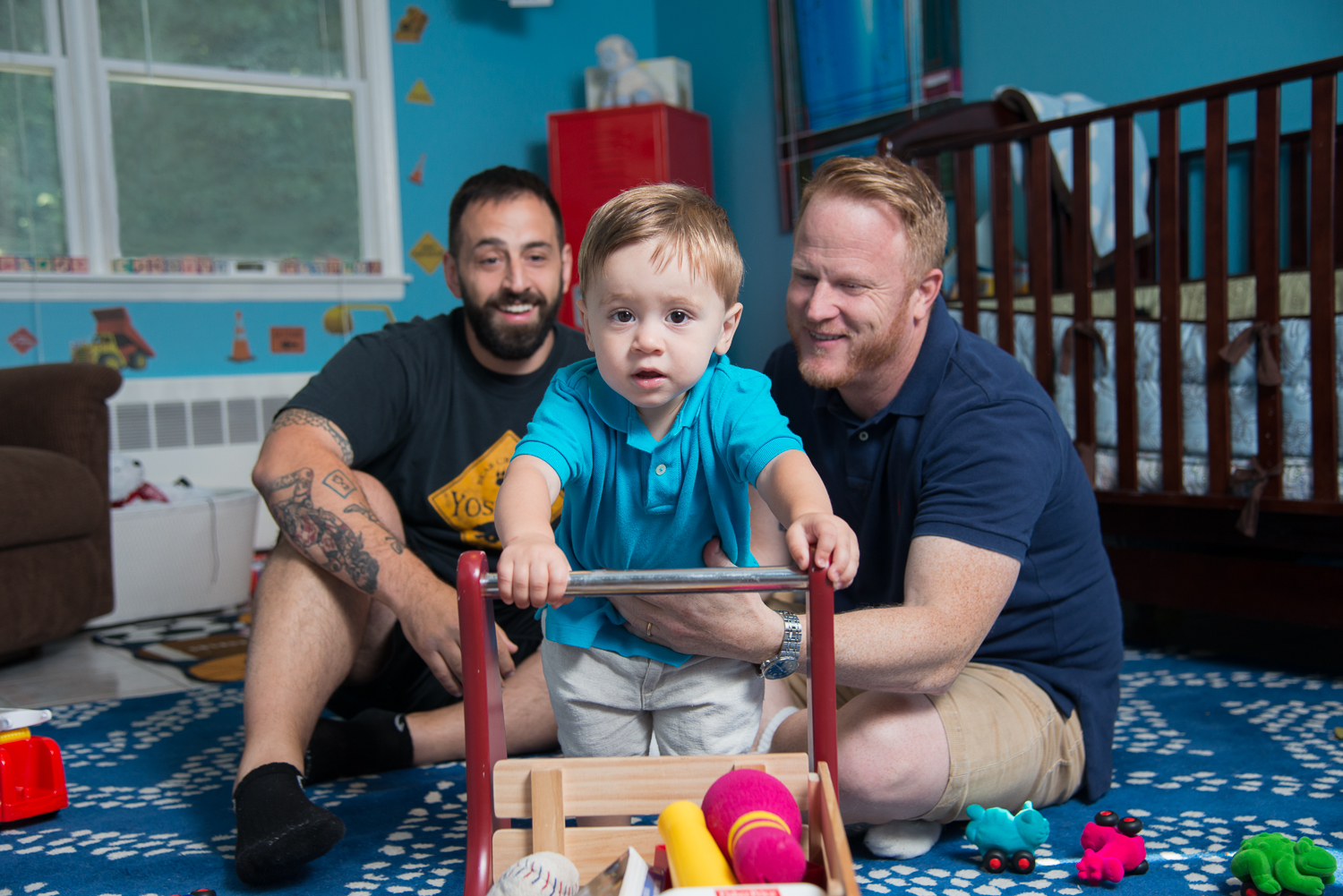 August 20, 2015:  Rocco Forgione, Corey Martin and Forge Leon Martin (17 months)