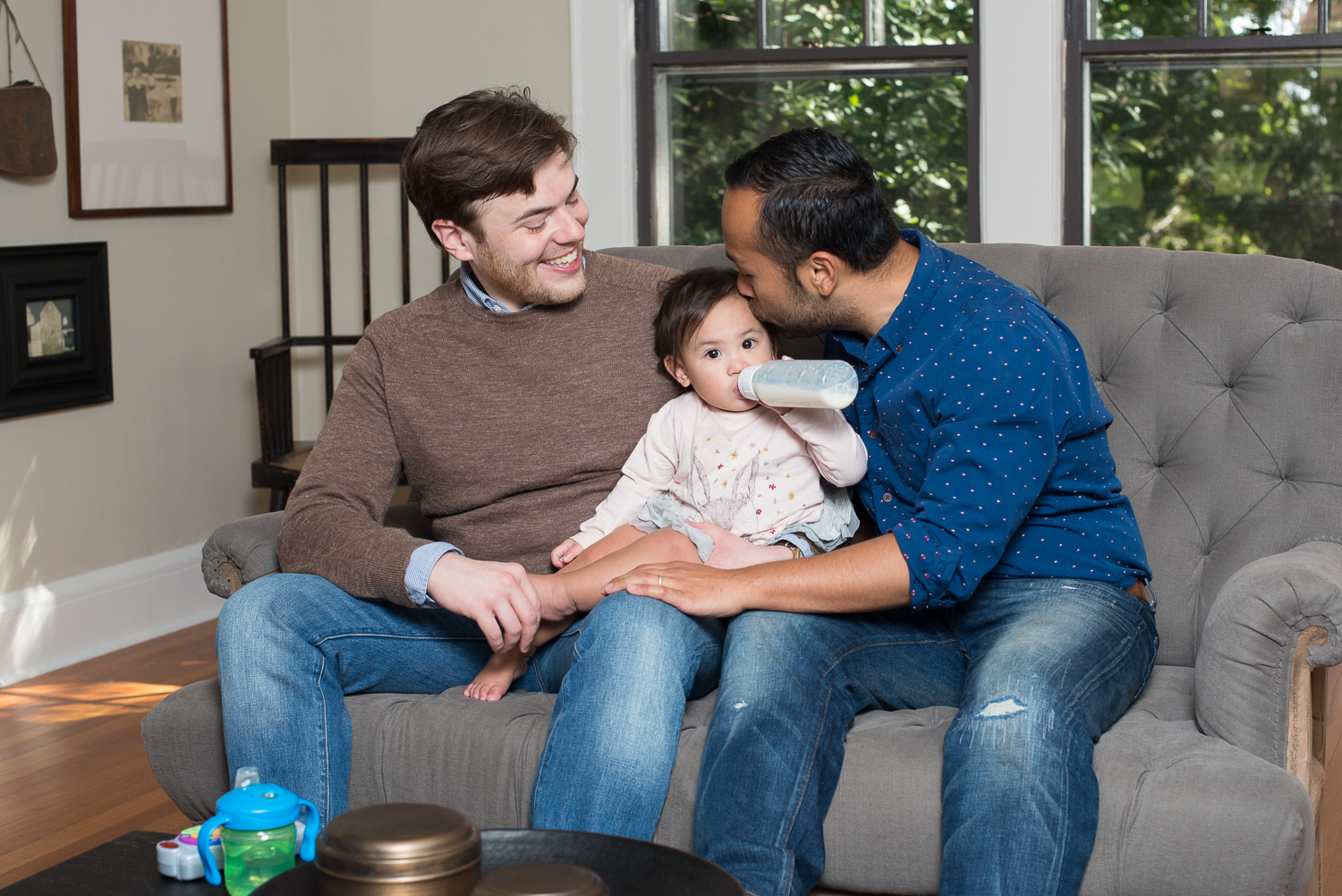 October 11, 2015:  Joe Adelantar, Sean Gilligan and Katherine Adelantar Gilligan (13 months)