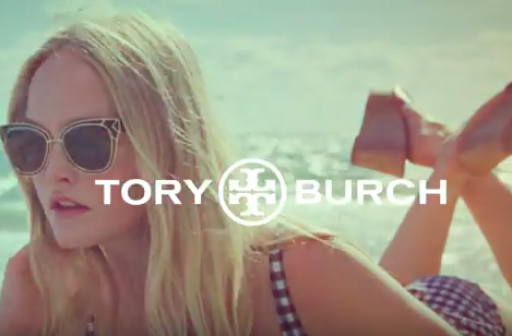 TORY BURCH  Spring Summer 2018 Promotional video Look Blue Go Purple   As Does The Sun