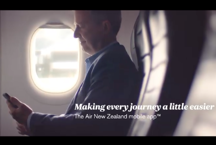AIR NEW ZEALAND  Mobile App Yasamin   'Home'
