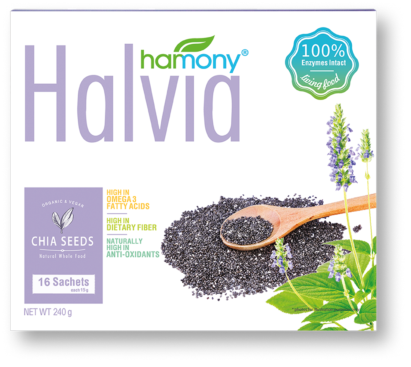 here is the cleanest chia seeds ever - 16 x 15 grams  |  RM 48.00Premium-grade, EU and USDA certified organic chia seeds. Rigorously cleaned with dual-stage cleaning process to ensure a strict 99.99% impurity-free seeds.A superfood for life!