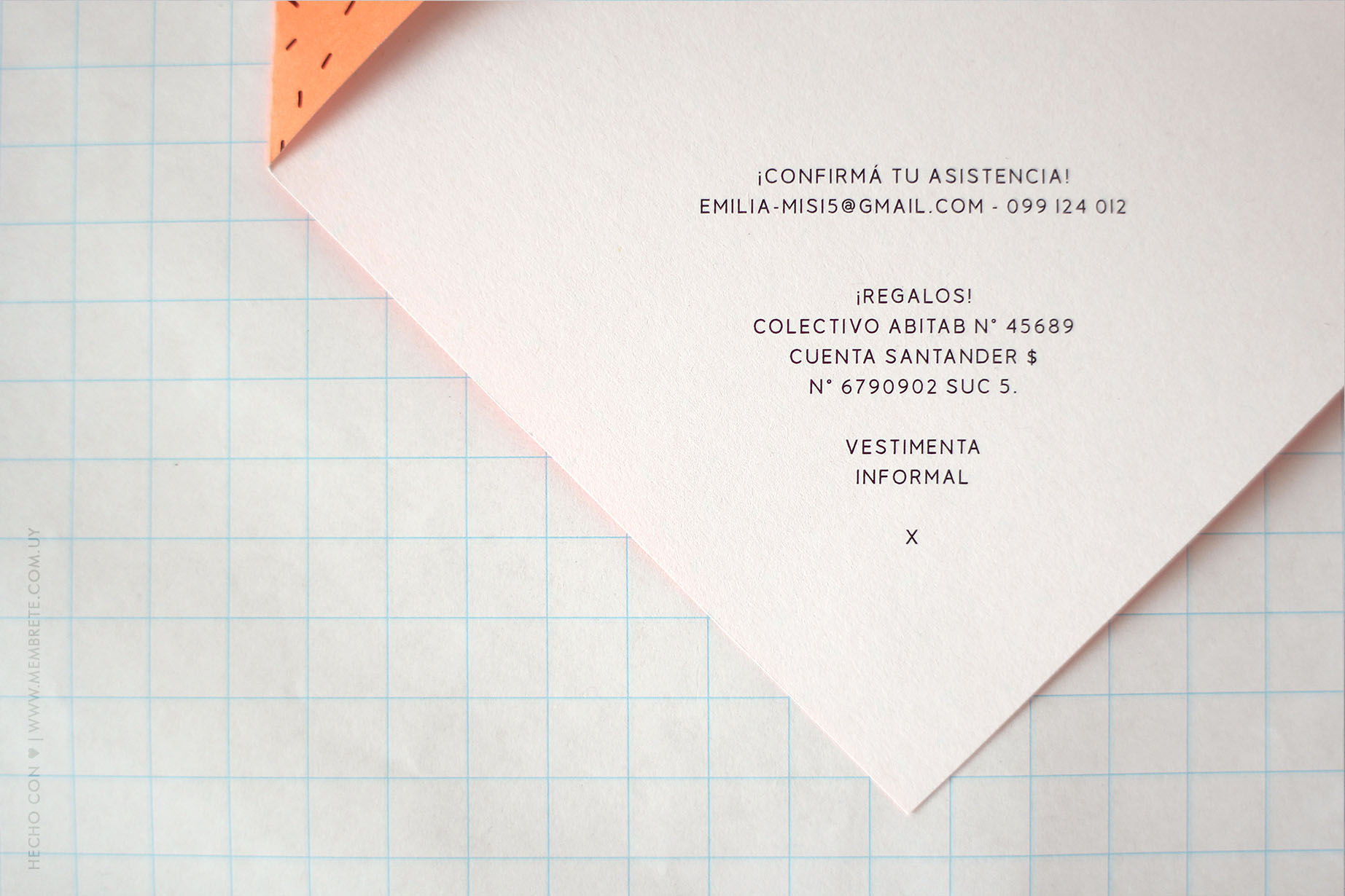 Emilia Flúo ♪ Fiesta 15 | Membrete | Invitaciones en papel | www.membrete.com.uy