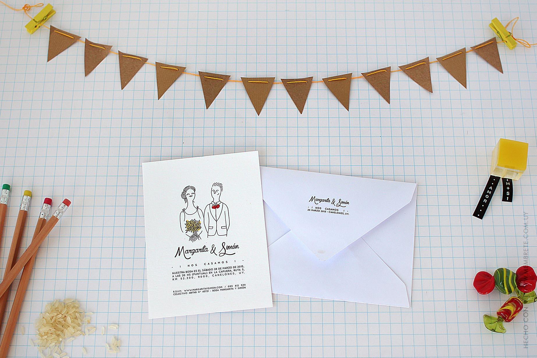 Margarita & Simón ♥ Membrete   Invitaciones en papel   www.membrete.com.uy