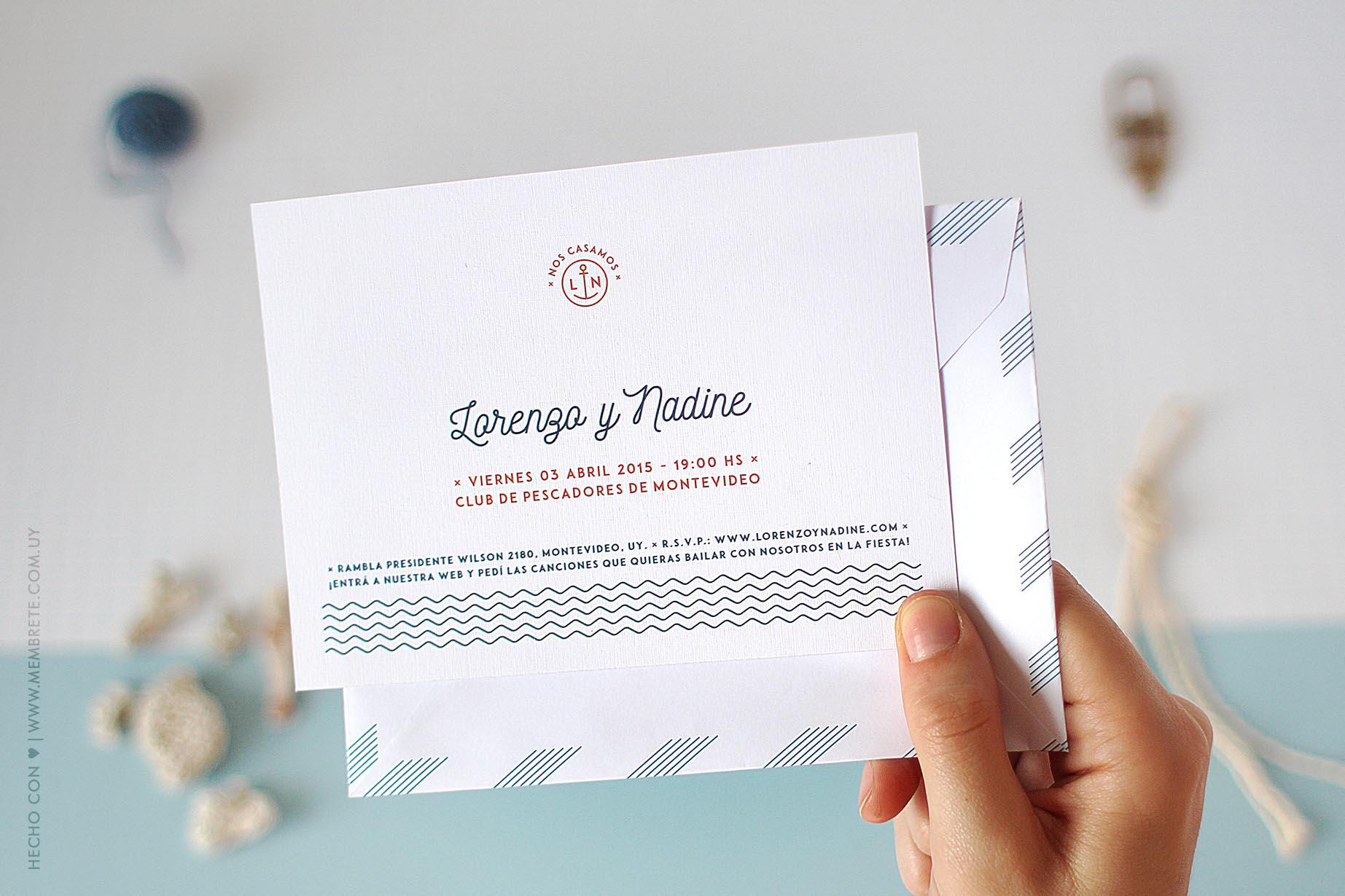 Lorenzo & Nadine ♥ Membrete   Invitaciones en papel   www.membrete.com.uy
