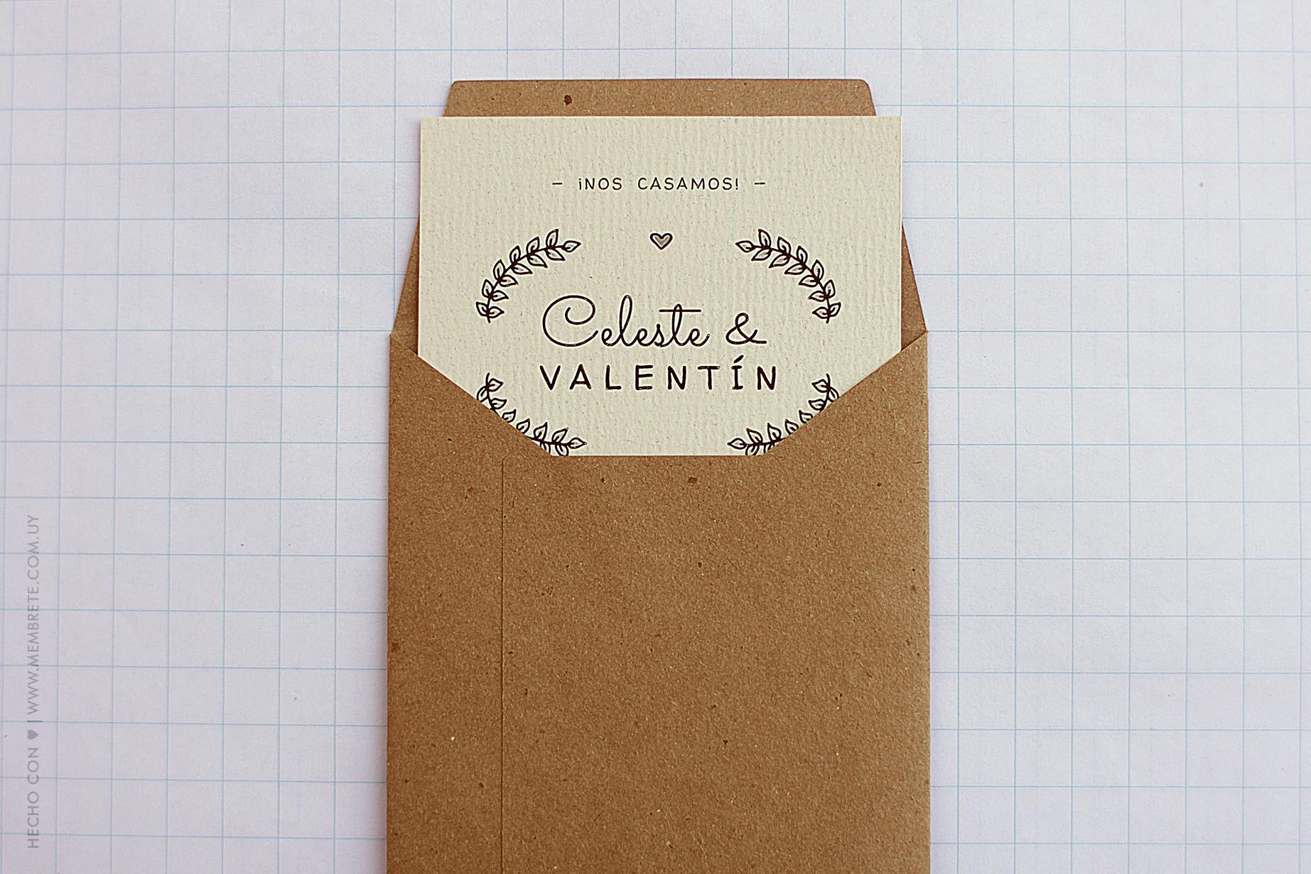CELESTE & VALENTÍN - Membrete - www.membrete.com.uy