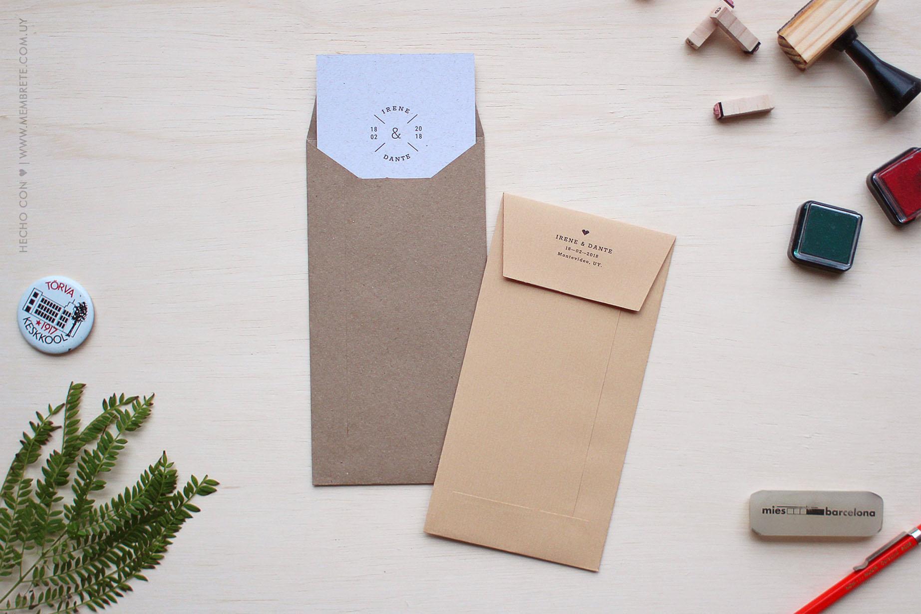 Irene & Dante, Categoría: Invitaciones de Bodas, MEMBRETE Diseño gráfico & Papelería - www.membrete.com.uy