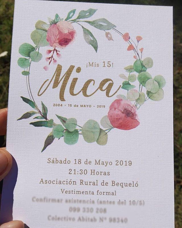 Los 15 de Mica en un estilo muy romántico! 💕  #15años #celebracion #papeleria #hechasconamor #hechasparacompartir
