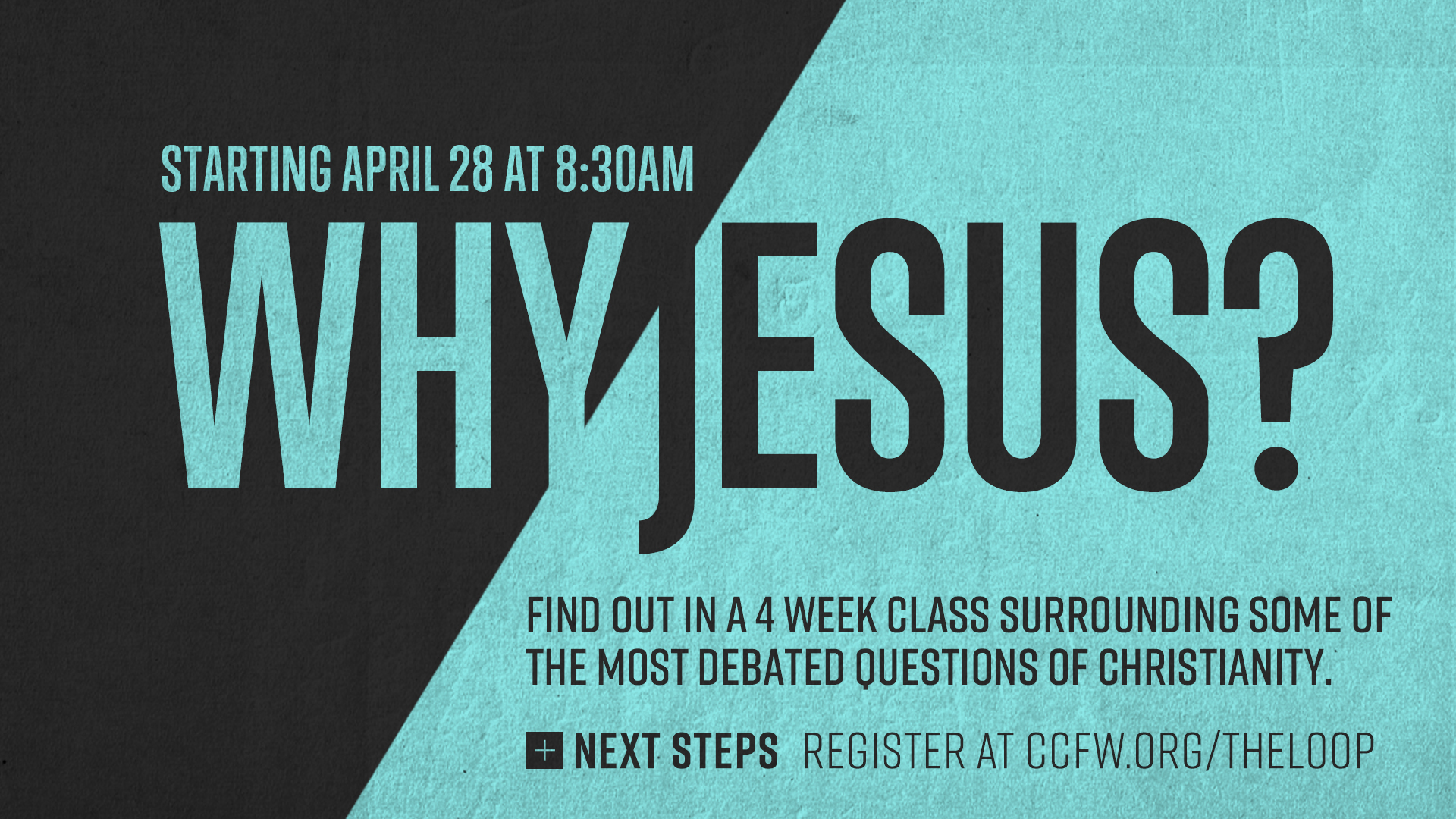 Why Jesus versus any other religion? Find out in a  multi-week class  surrounding some of the most debated questions of Christianity.