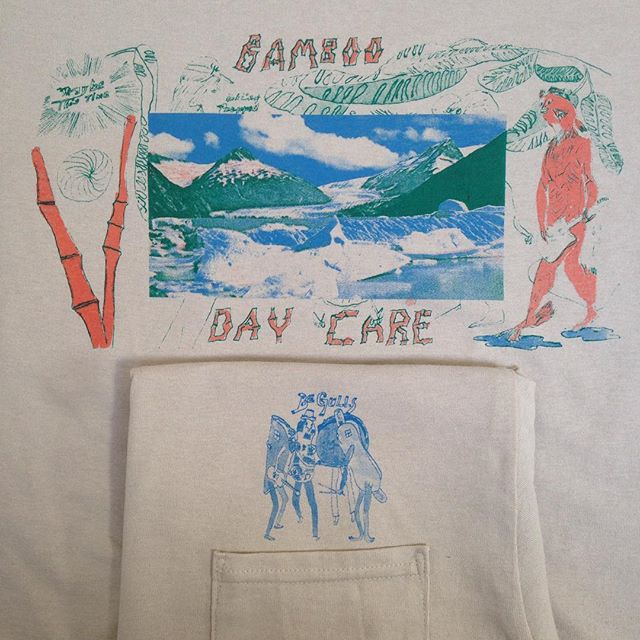 """Probably one of the weirder shirts we have made this year is now up in the store what is """"BAMBOO DAYCARE"""" you ask? Link in profile proffers a vague description!"""
