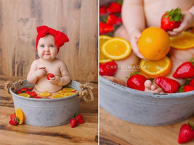 🍓🍊 #babyphotography #babygirl #cakedimagery