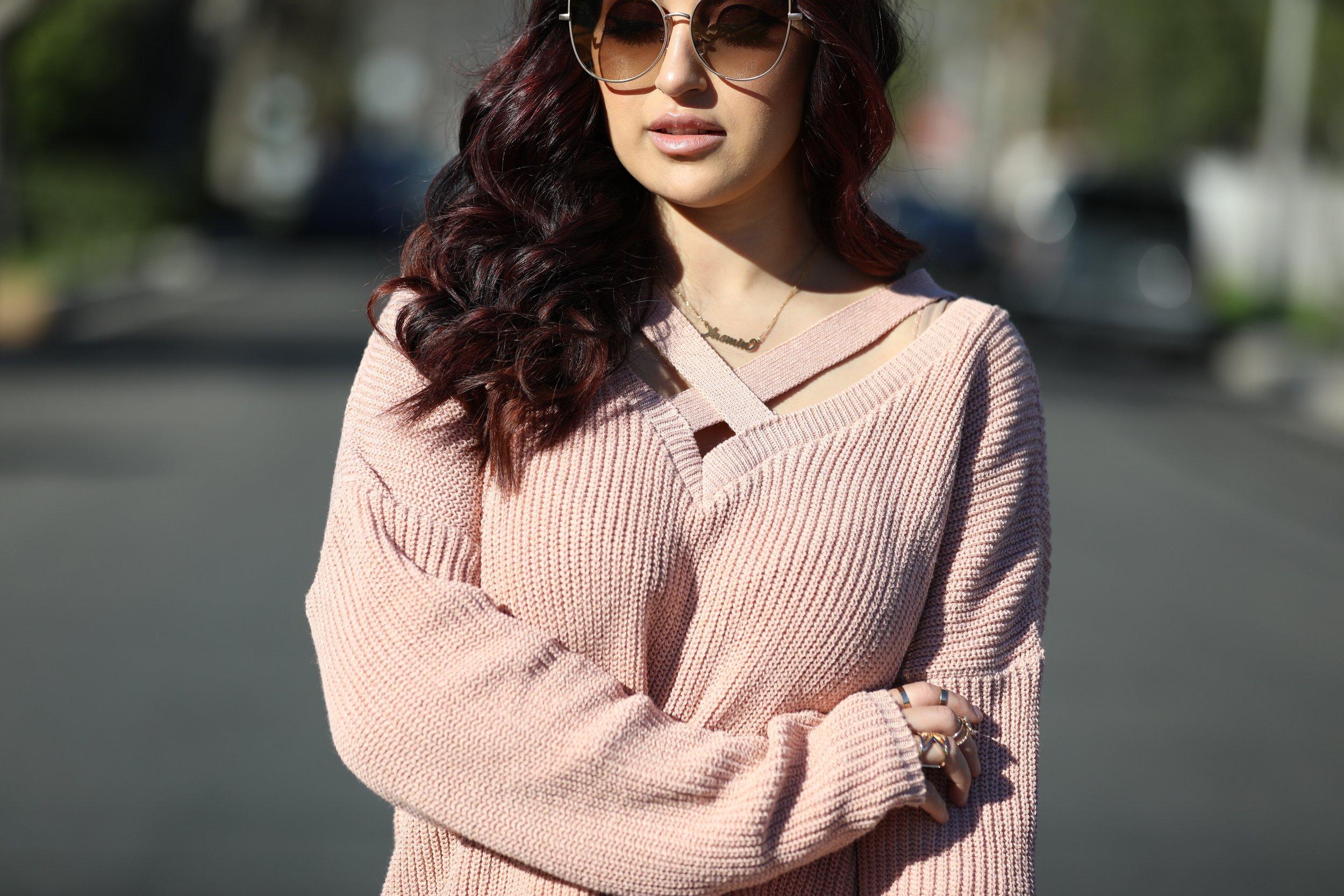 Knit Sweater (similar):  B  ohoo