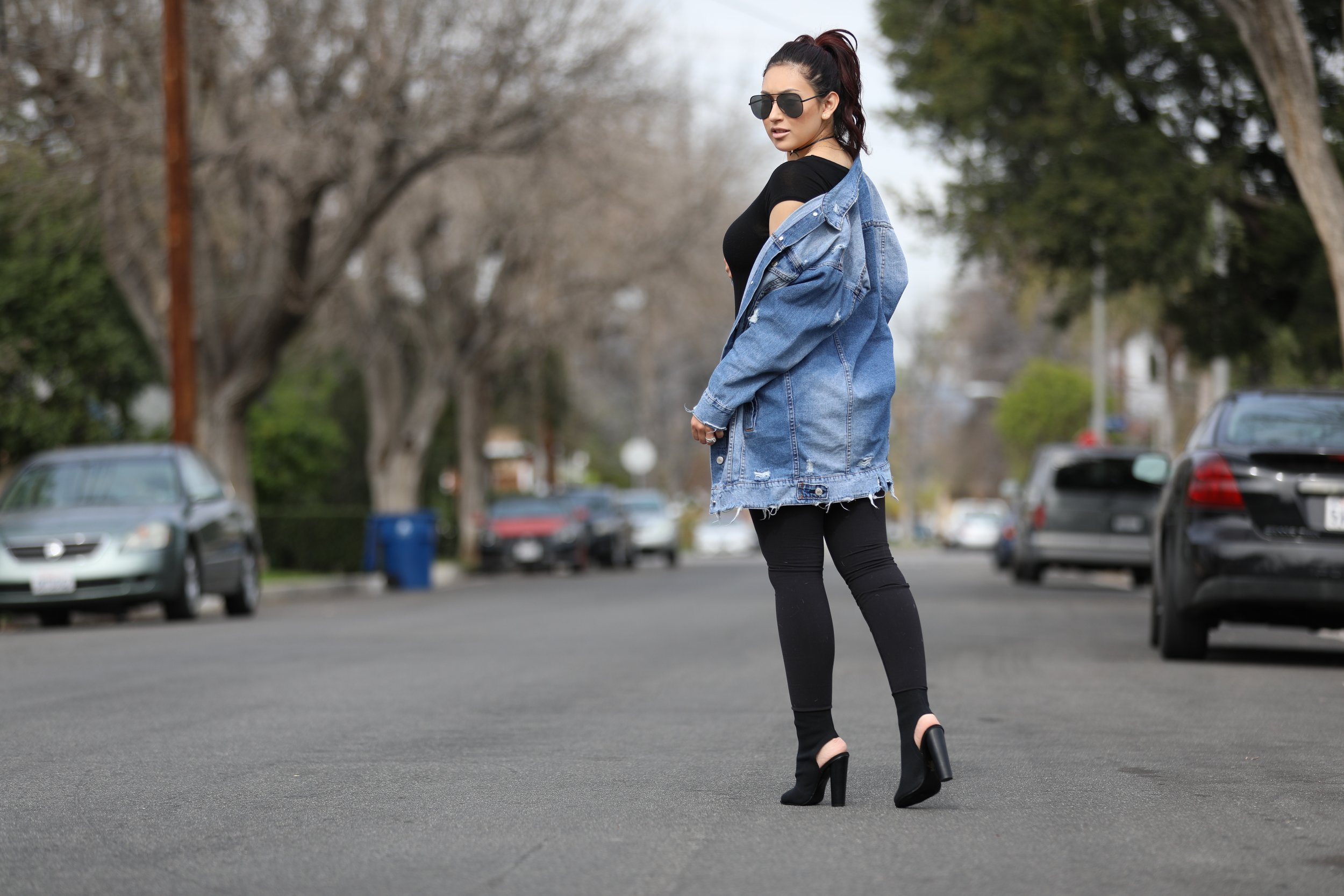 Denim Oversized Jacket  | Lolashoetique | $50