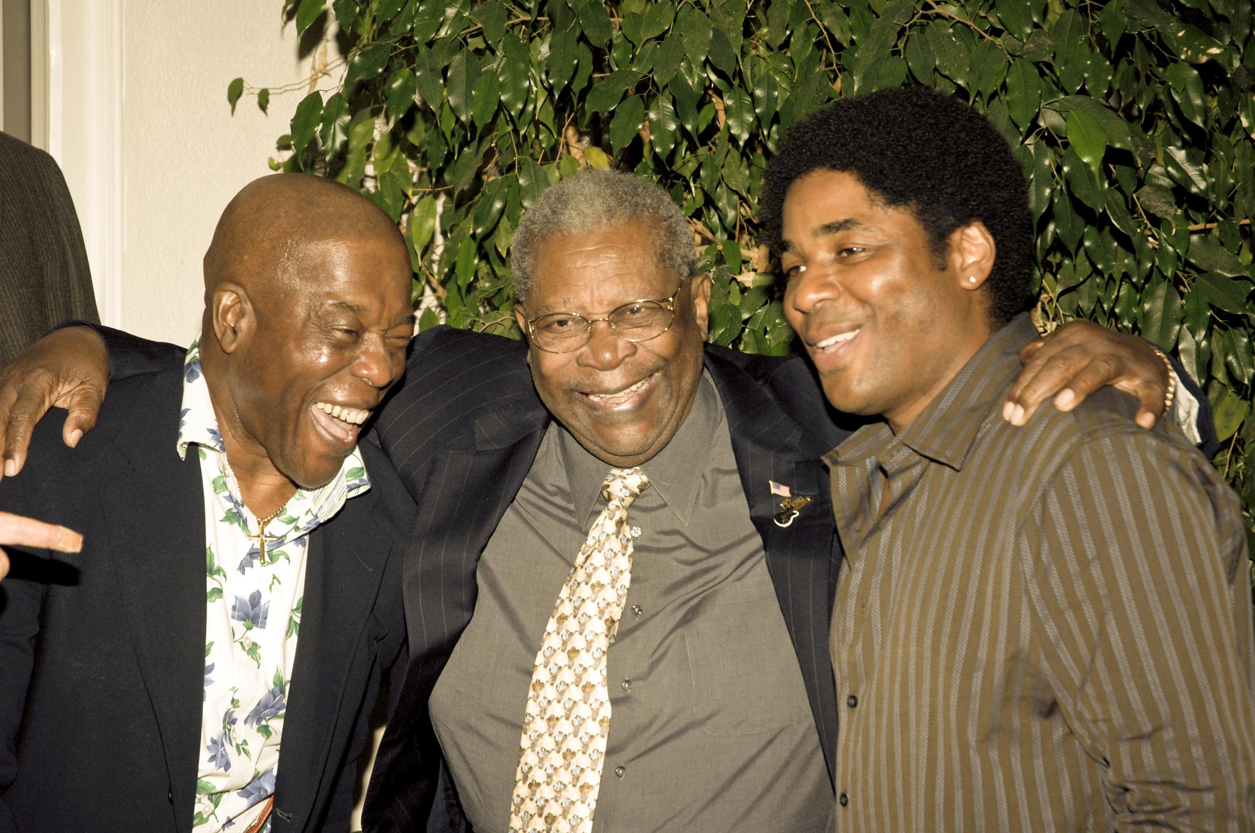 Buddy Guy, B.B. King and Chris Thomas King Los Angeles 2005.Photo by John Heller
