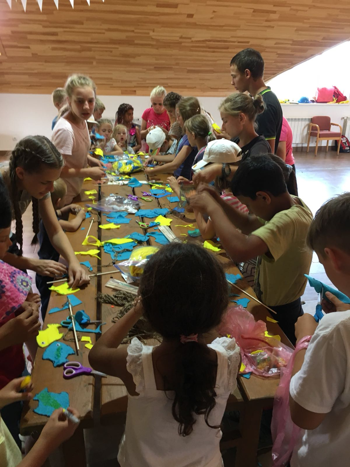 Today is Craft Mania day! There were three stations (plus one secret station) of crafts for the kids to make at the end of the day.