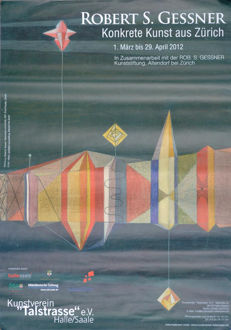 Plakat zur Ausstellung im Kunstverein Talstrasse e.V. Halle (Saale)