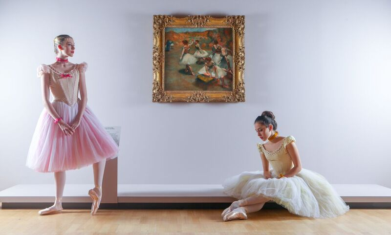 Georgia Scott-Hunter and Evie Ferris, Artists of The Australian Ballet, at Degas: A New Vision at NGV International, 24 June – 18 September 2016.Photo: Wayne Taylor