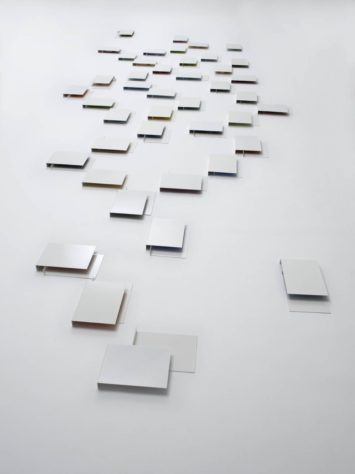 Fernanda Fragateiro  Le Corbusier Color Keyboards , 2011 painted steel and wallpaper, various dimensions