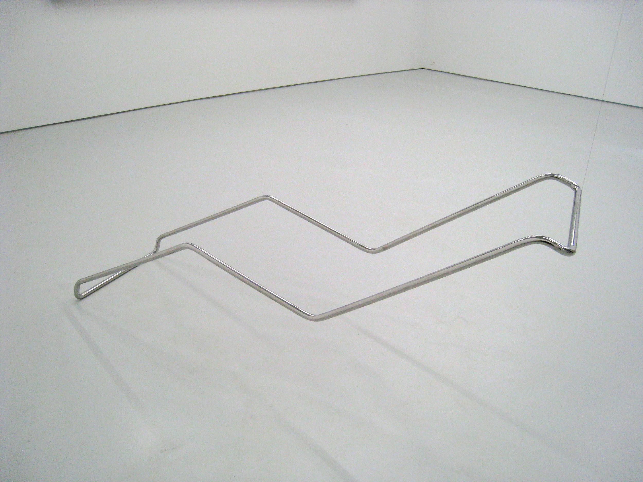 Fernanda Fragateiro  Recliner , 2009 polished stainless steel, 210 x 60 x 70 cm