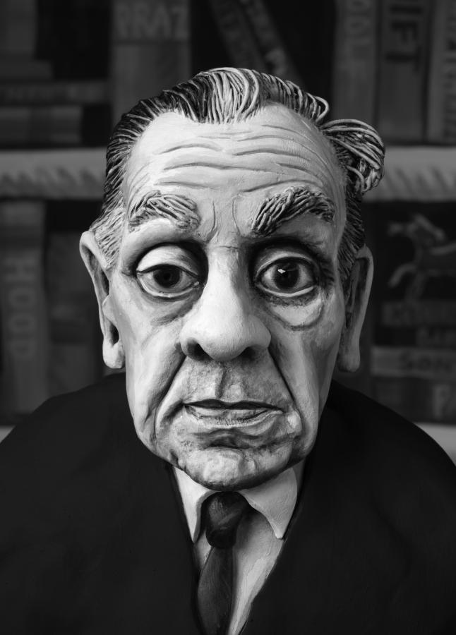 Jorge Luis Borges , 2015 photograph, 57 cm x 39 cm