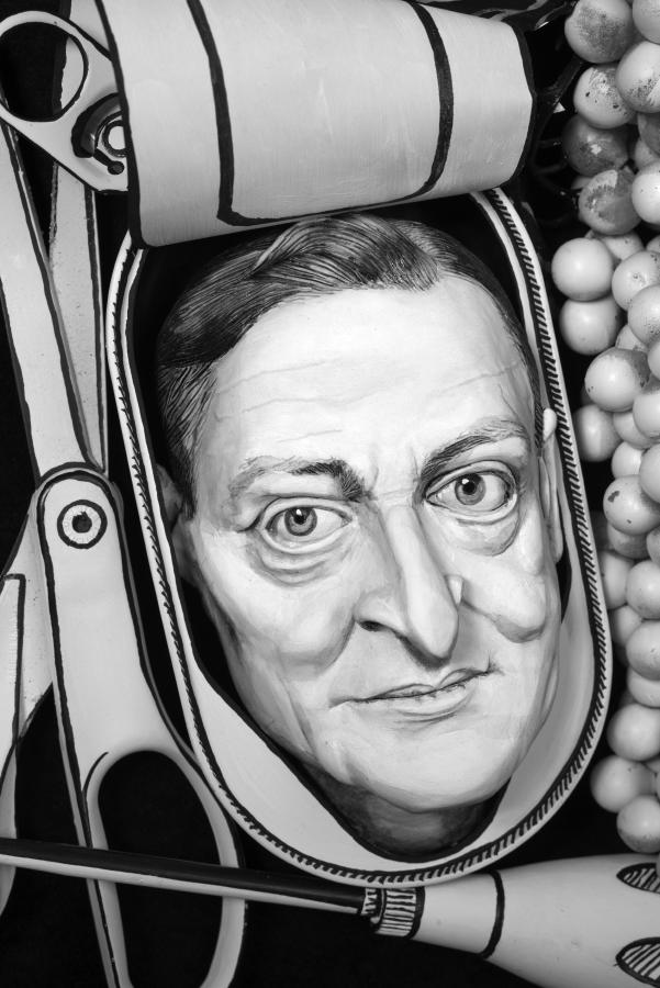 T.S. Eliot in a Kipper Tin , 2015 photograph, 57 cm x 38 cm