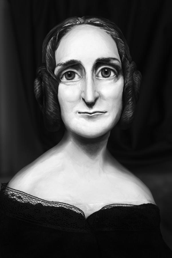Mary Reid Kelley  Mary Shelley,  2015 pigment ink print, 56,61 x 39 cm